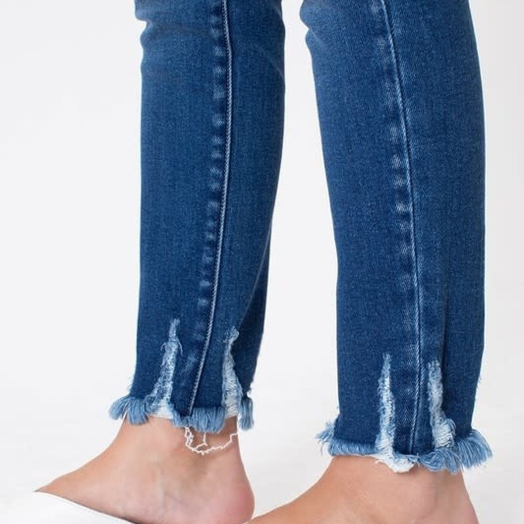KanCan KanCan Medium Wash Ankle Hem Skinnies
