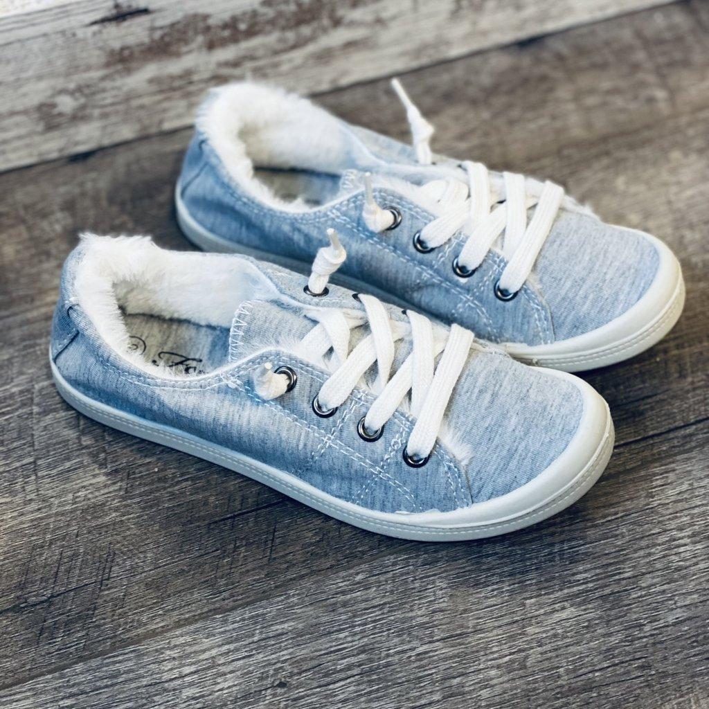 Forever Trendy Light Grey Cozy Sneakers