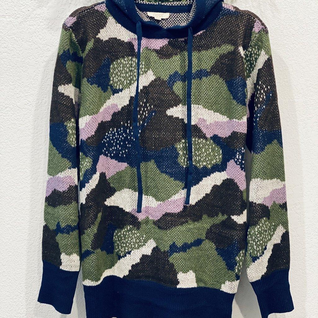 Oddi Navy Camo Hooded Sweater (S-3XL)