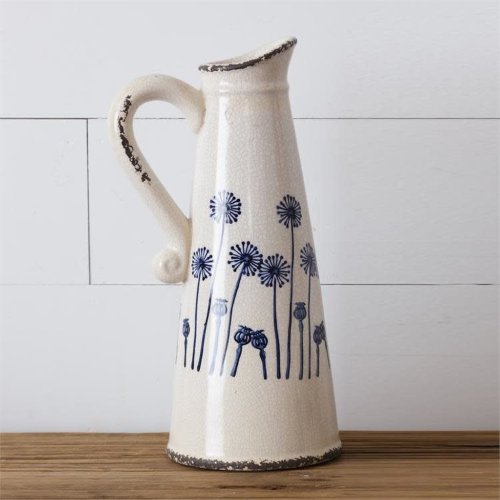 Audrey's Large Dandelion Pitcher Pottery