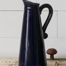 Audrey's Large Navy Pitcher Pottery