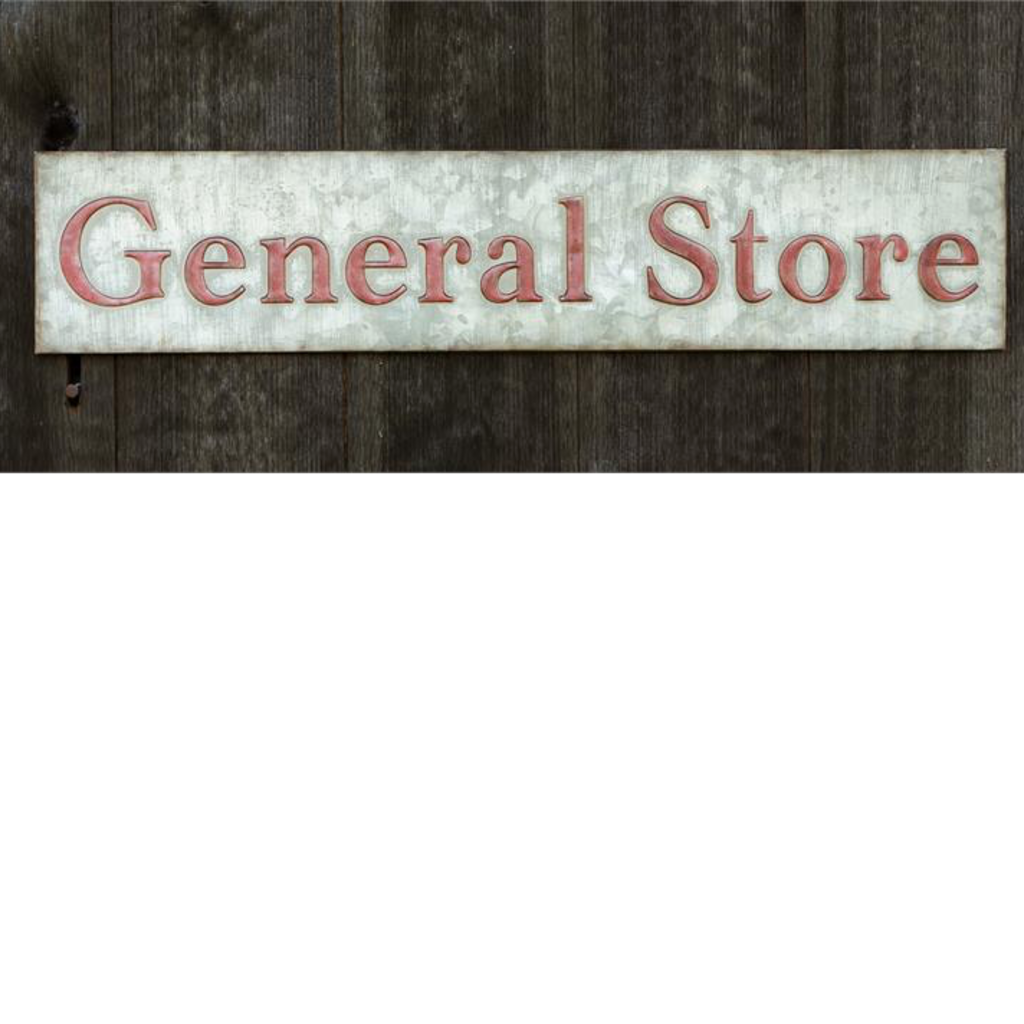 """Audrey's 36"""" General Store Galvanized Sign"""