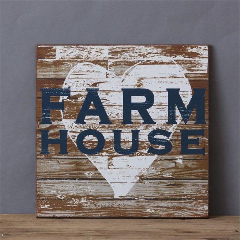 Audrey's Wood Navy Farm House Sign