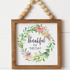 Audrey's Small Thankful for this Day Beaded Sign