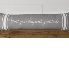 """Audrey's 34"""" Start Your Day with Gratitude Lumbar Pillow"""