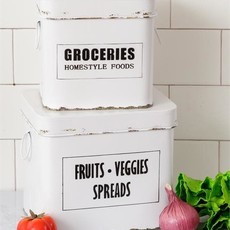 Audrey's Fruits, Veggies, Spreads Containers (Set of 2)
