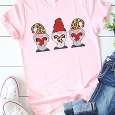 Bella Canvas Pink Leopard Loving Gnomes Tee (S-3XL)