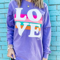 Comfort Color Purple LOVE Longsleeve Tee (S-2XL)