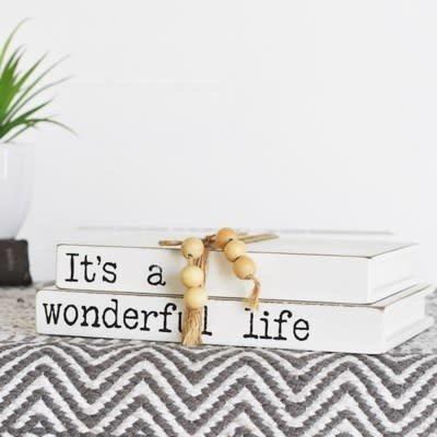 Pd Home & Garden It's a Wonderful Life Book Block