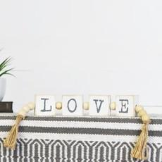 Pd Home & Garden LOVE Blocks with Farmhouse Beads