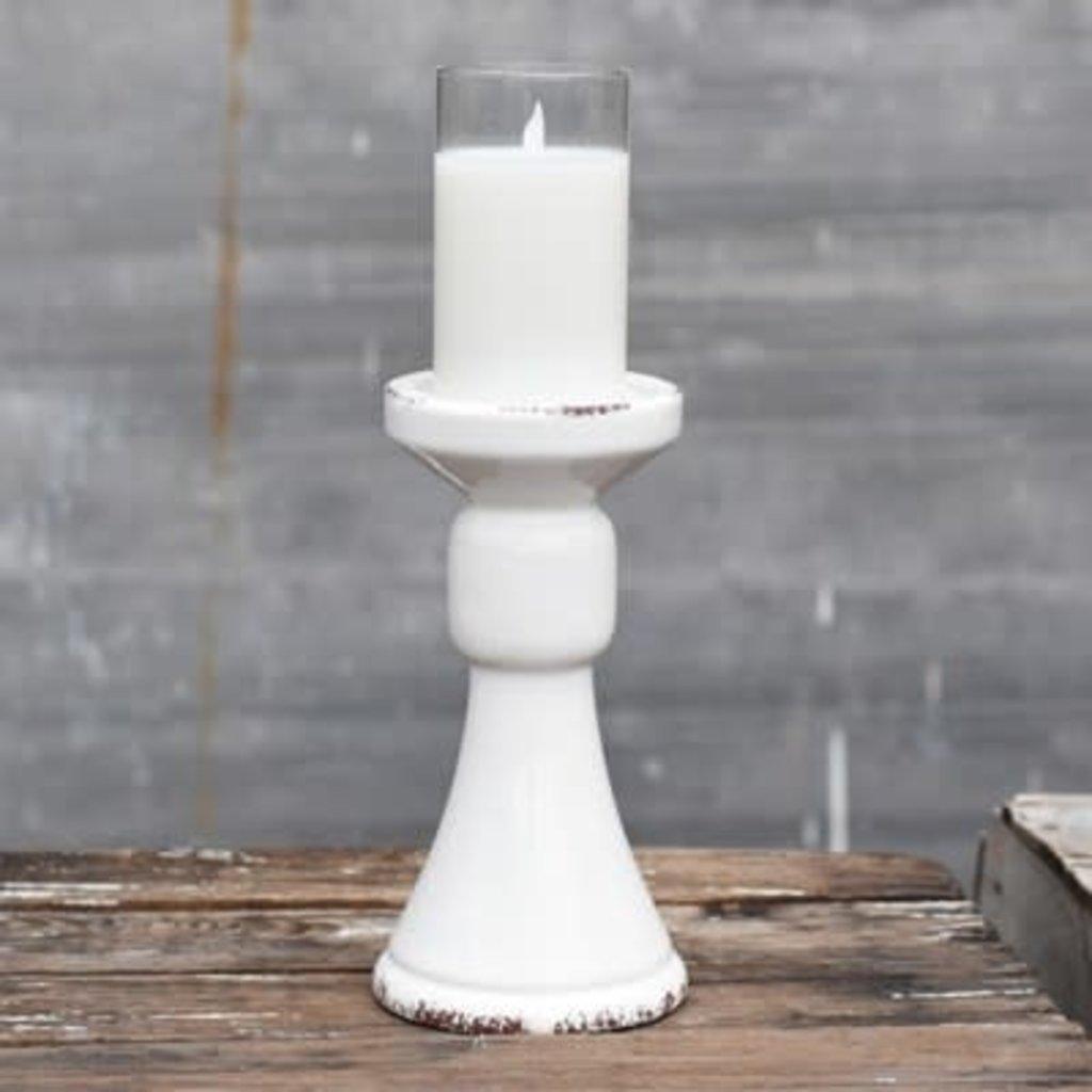 """Pd Home & Garden 9"""" White Candle Pillar"""