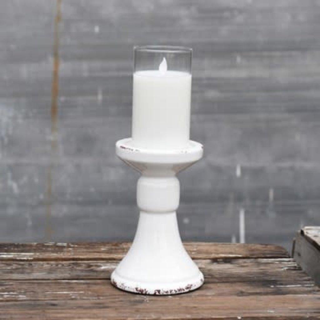 """Pd Home & Garden 7"""" White Candle Pillar"""
