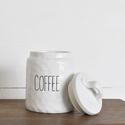 Pd Home & Garden White Ceramic Coffee Keeper