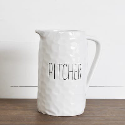 Pd Home & Garden White Ceramic Pitcher