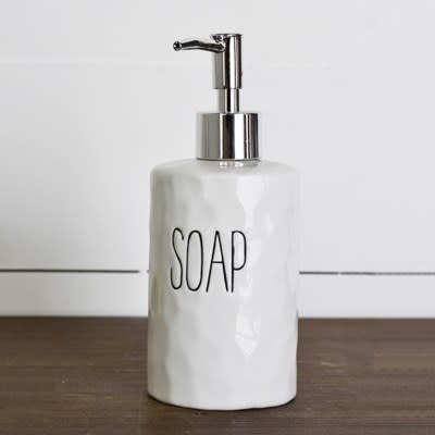 Pd Home & Garden White Ceramic Soap Dispenser
