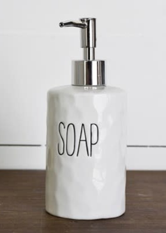 Pd Home & Garden White Ceramic Soap Dispenser