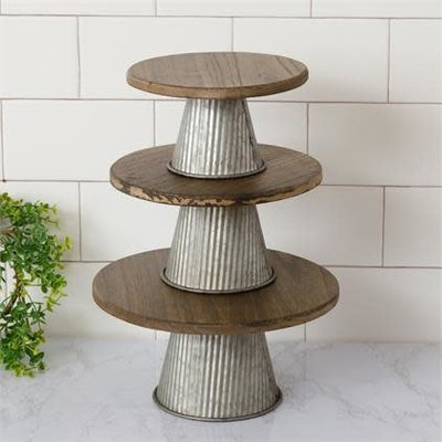 Audrey's Corrugated Metal Wood Risers (3 Sizes)