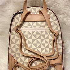 LTB Taupe Inspired Triangle Check Backpack Wallet Set