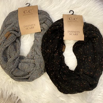 CC CC Infinity Scarves (Black/Grey)