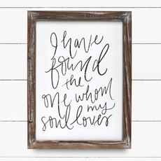 Sweet Water Decor 9x12 My Soul Loves Sign