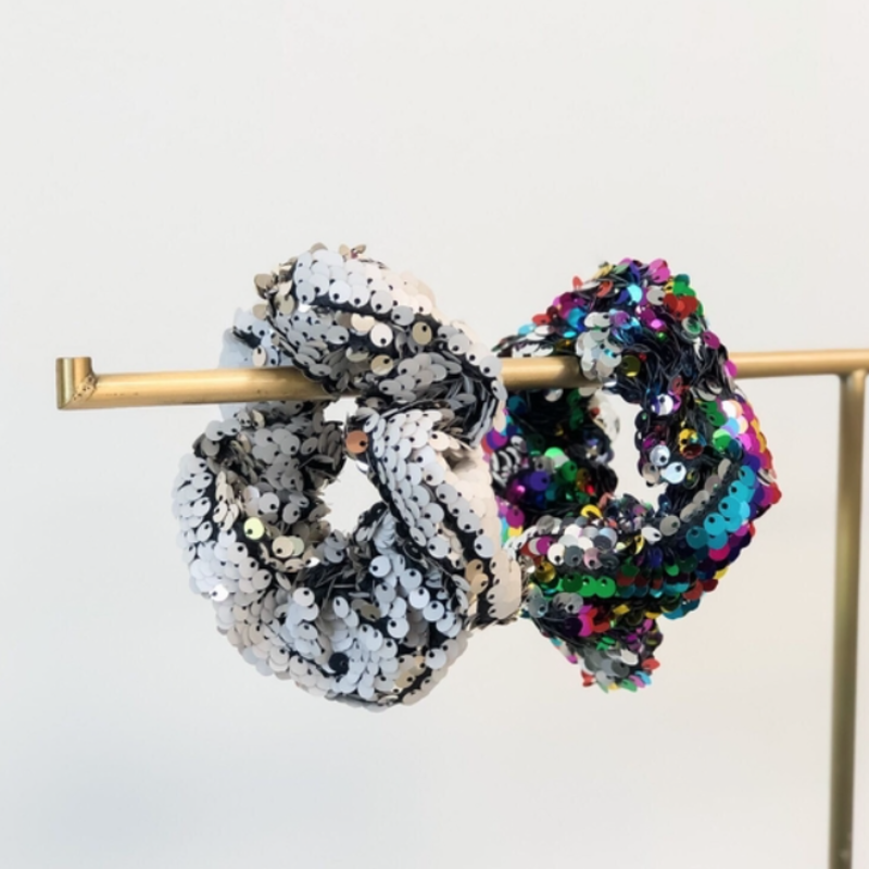 Prep Obsessed Sequin Hair Scrunchies