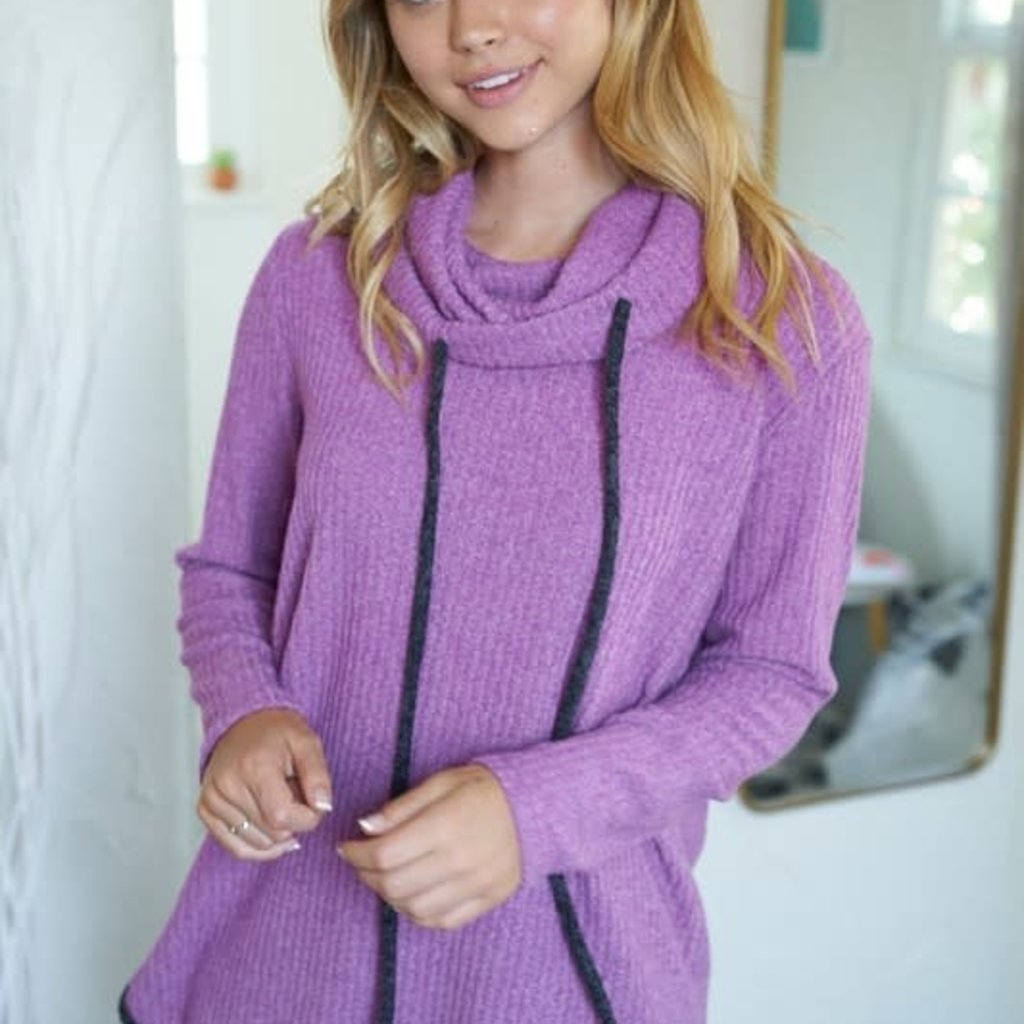 White Birch Magenta Cowl Neck Tunic *DEAL OF THE WEEK*