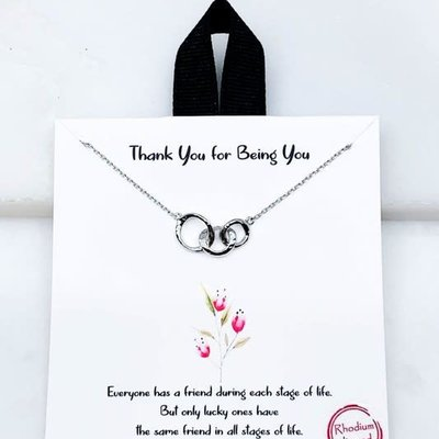 Southern Seoul Thank You for Being You Necklace
