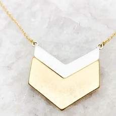 Southern Seoul Mixed Metal Chevron Necklace