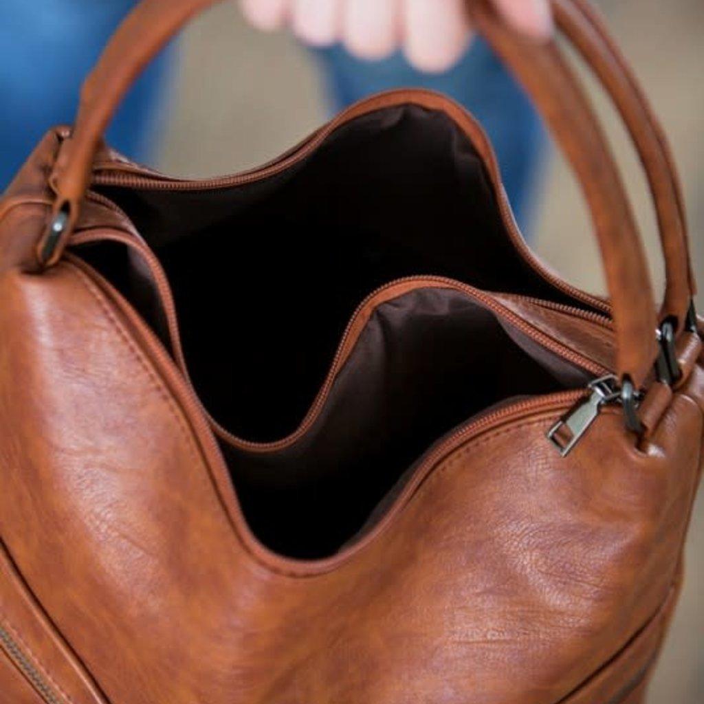 Dani & Em Cognac Rayne Handbag
