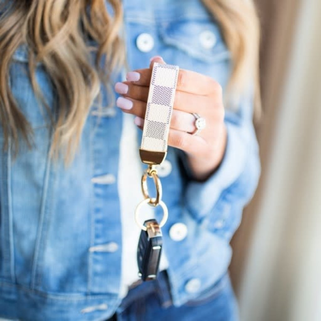 Dani & Em Checker Key Chain