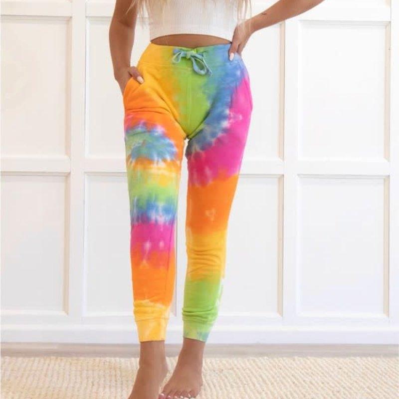Ocean & 7th Bright Tie Dye Joggers (S-XL)