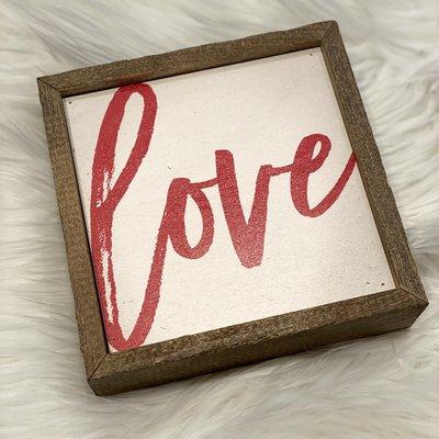 Driftless Studios 6x6 Love Wood Sign