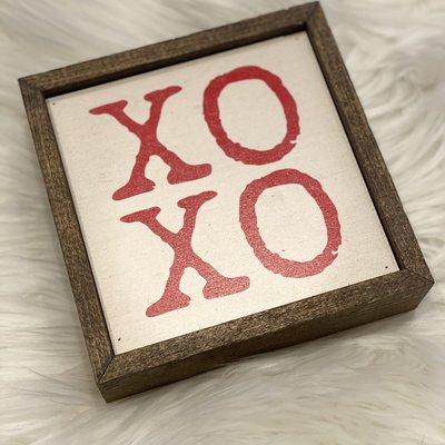 Driftless Studios 6x6 XOXO Wood Sign