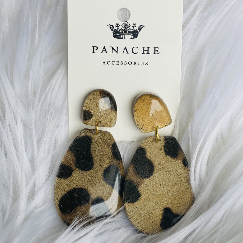 Panache Leopard Acrylic Earrings
