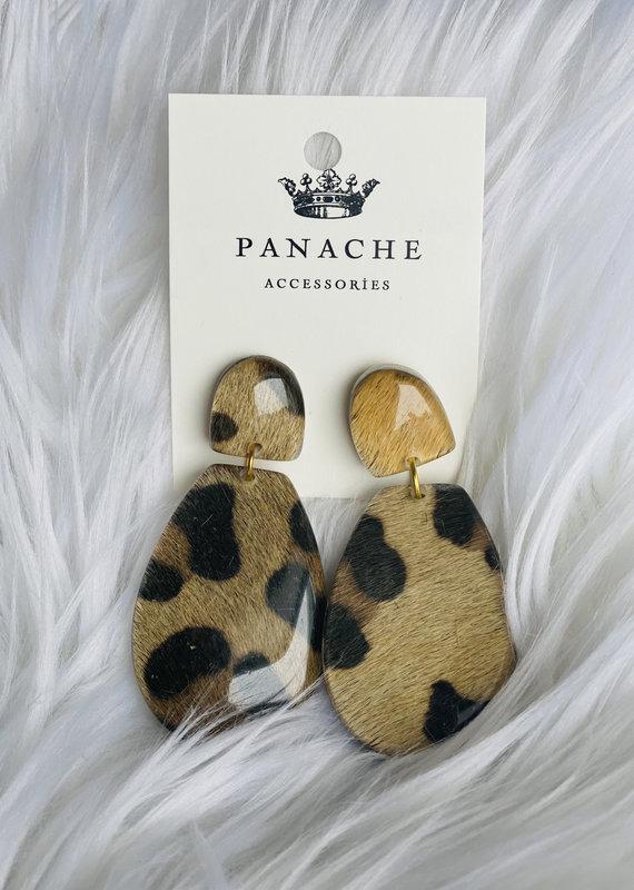 Panache Leopard Acrylic Earrings