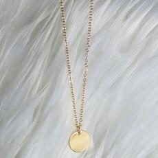 Panache Gold Circle Necklace