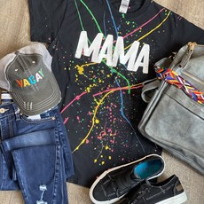 Gildan Black Paint Splattered Mama Tee (S-XL)