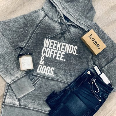 Ocean & 7th Gray Weekends Coffee & Dogs Hoodie (S-XL)