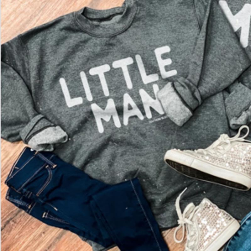 LTB Gray Little Man Crew Sweatshirt (Youth Sizes)