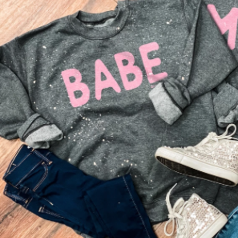 LTB Gray Babe Crew Sweatshirt (Youth Sizes)