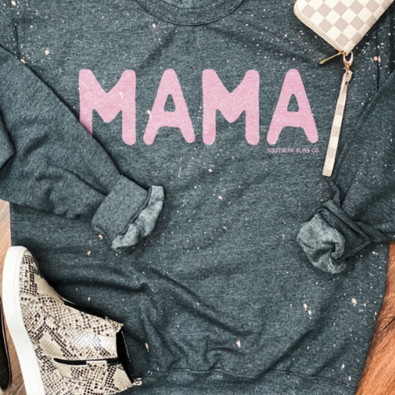 LTB Gray Pink Mama Crew Sweatshirt (S-3XL)