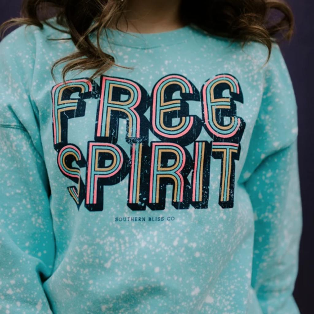 LTB Free Spirit Mint Bleached Crew Sweatshirt (S-3XL)