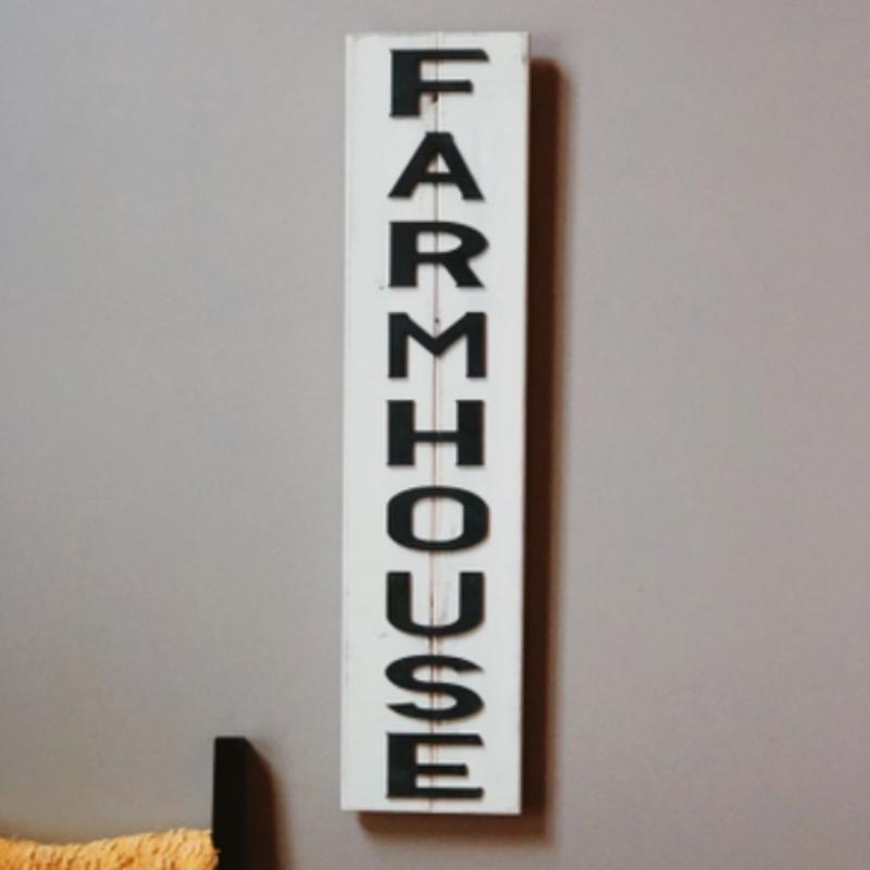 Pine Designs Farmhouse Vertical Slatted Sign