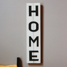 Pine Designs Home Vertical Slatted Sign