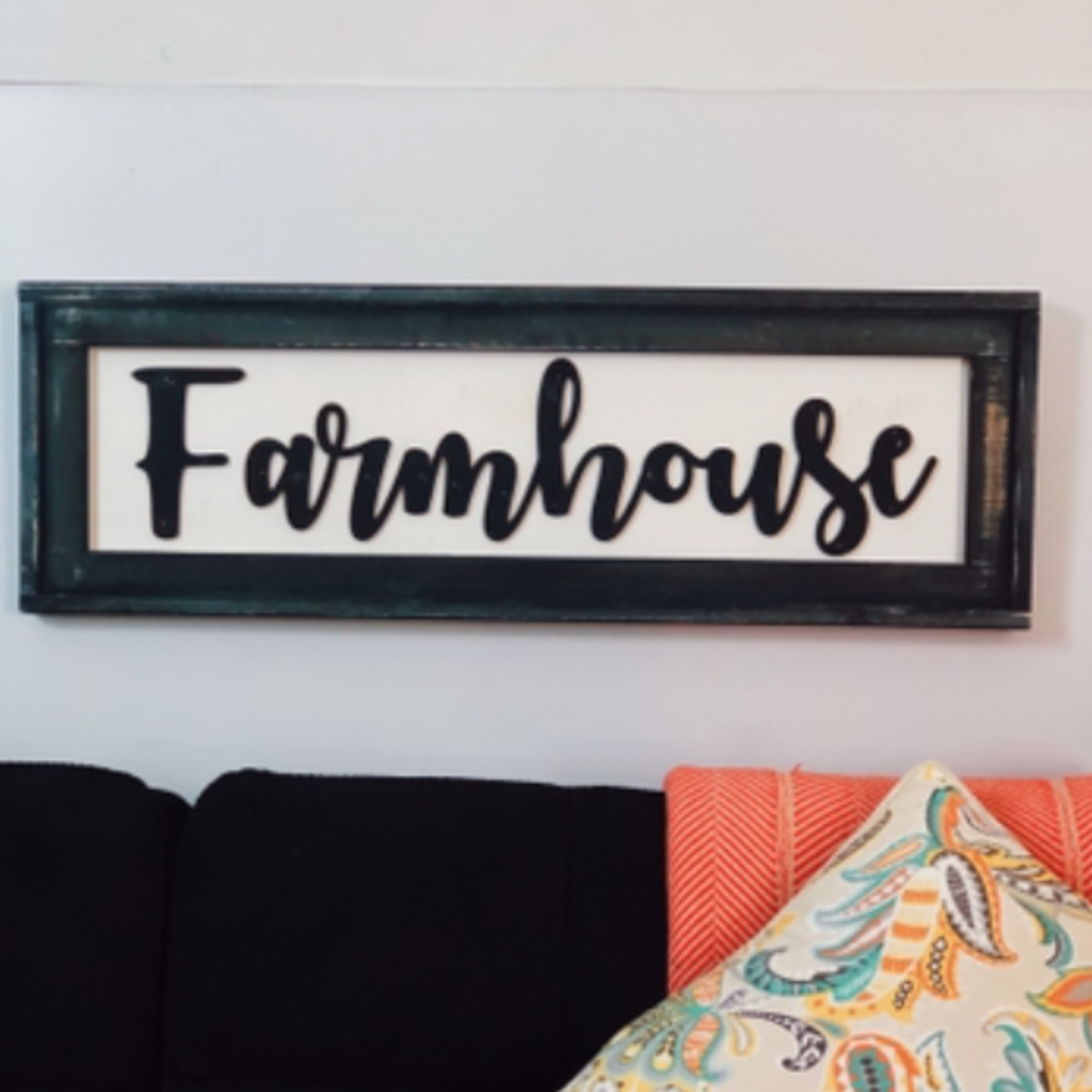 Pine Designs Farmhouse Framed Sign