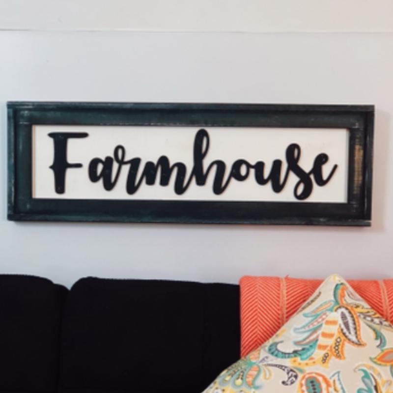 Pine Designs Farmhouse Framed Sign