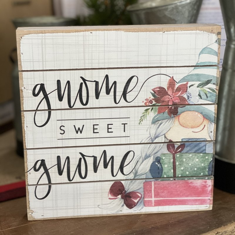 Sincere Surroundings Gnome Sweet Gnome Wood Sign