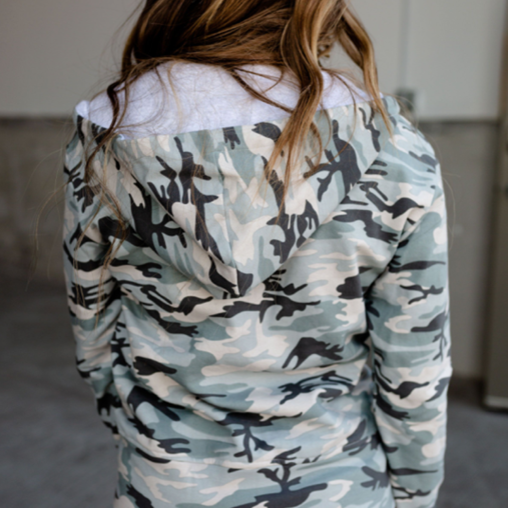 AMPERSAND AVE Light Camo Fullzip Hoodie - Ampersand Ave (S-3XL)