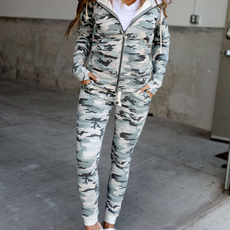AMPERSAND AVE Light Camo Ampersand Ave Joggers (S-3XL)