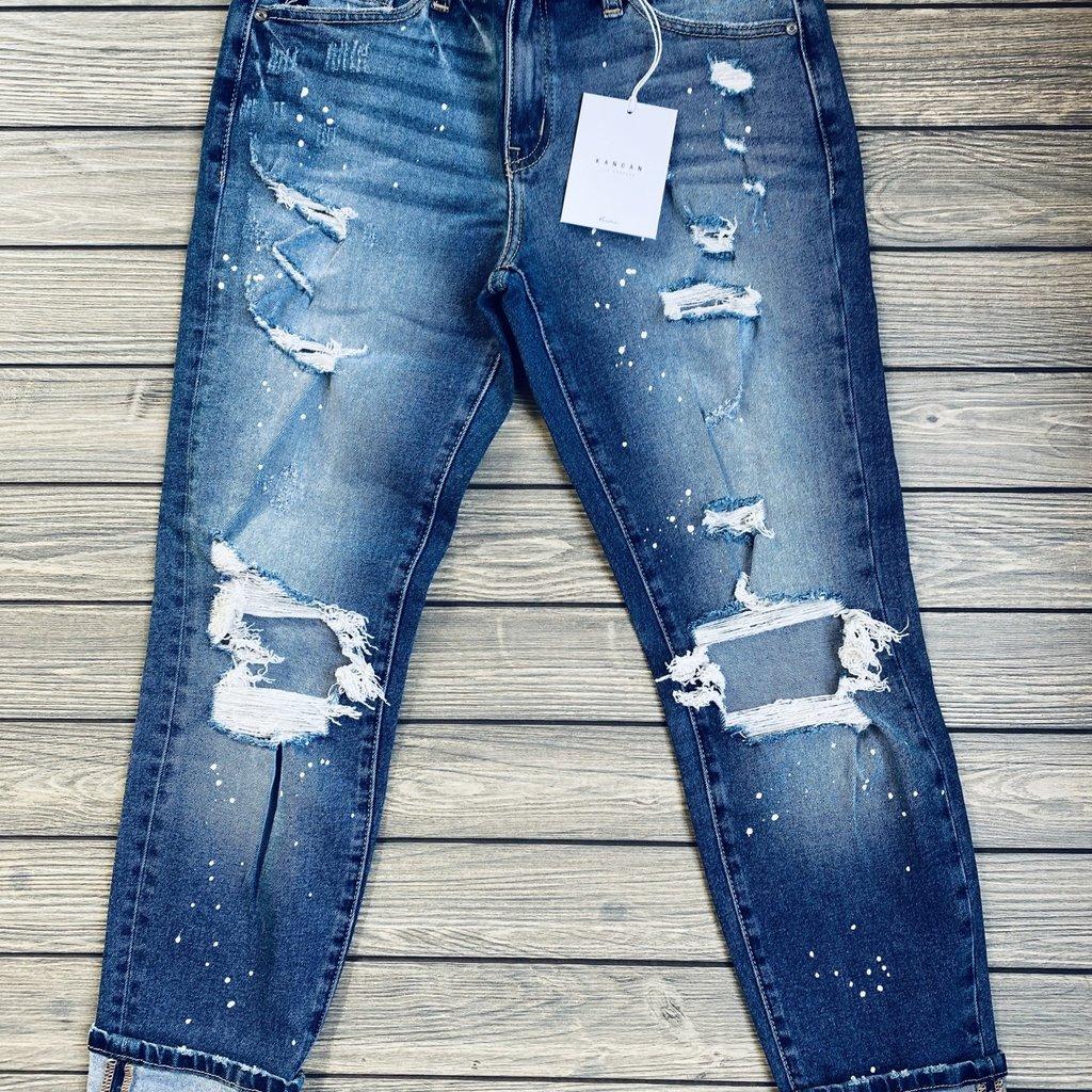 KanCan KanCan Paint Splattered Distressed Skinnies (1/24-15/31)